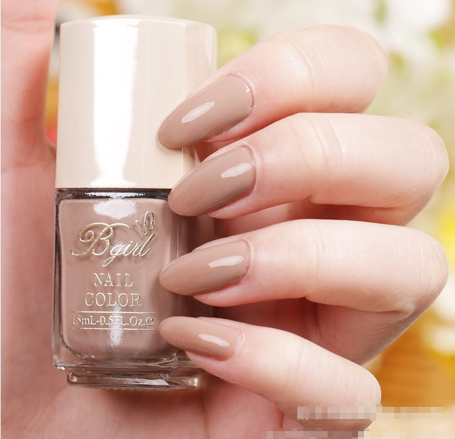 Fashion Modern Khaki Light Color Nail Oil Eco Friendly Polish Candy Green