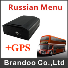 Inexpensive 4 Channel 720p HDD GPS Car DVR, HD Bus DVR Mobile DVR