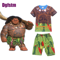 Maui Little Boys Pajamas Sets Shorts T Shirt Pant Suits For Kids Clothing Toddler Sleepwear Moana