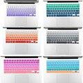 Постепенное цвет силикона Водонепроницаемый Только Английский США клавиатура крышка для macbook pro 15 retina 17 дюймов воздуха 13 беспроводная клавиатура кожи