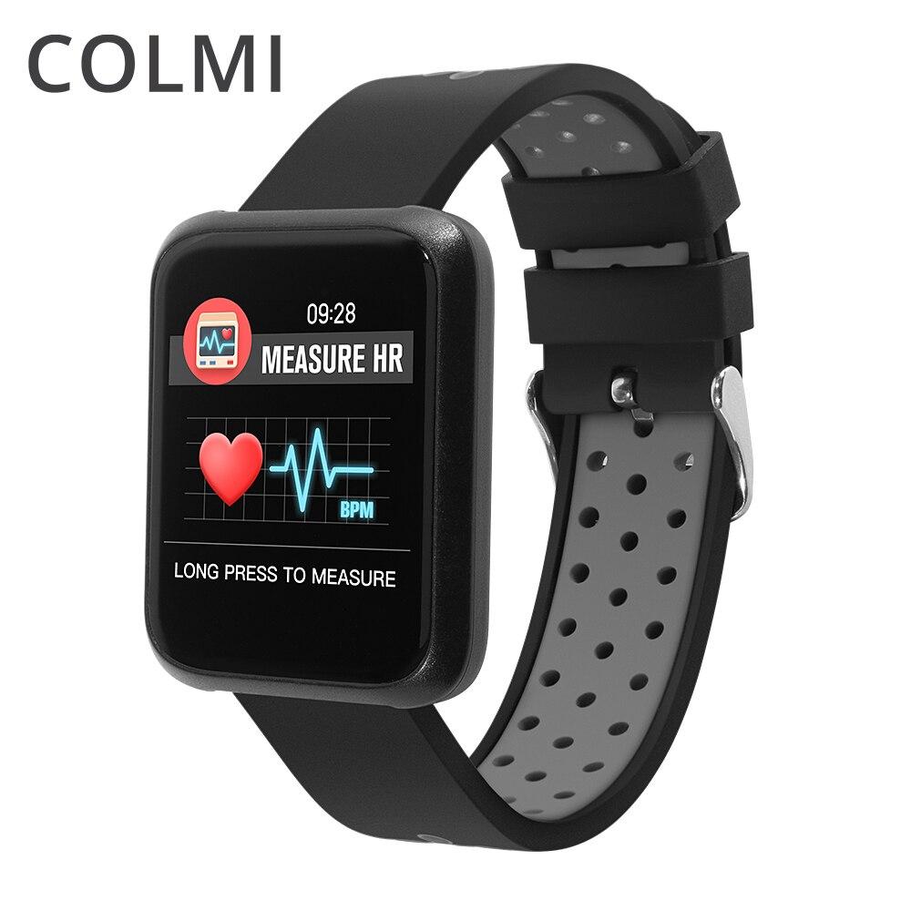 COLMI Smart Montre Bluetooth Podomètre Fréquence Cardiaque en Oxygène du Sang Pression Appel rappel Poignet Smartwatch Pour Android IOS Téléphone