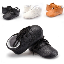 Boys Girls Toddler Baby PU Leather Crib Infant Anti Slip Casual Loafers Shoes