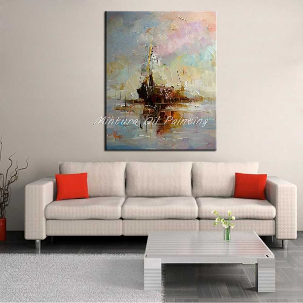 Mintura Art Hand Painted Abstract Oil Paintings On Canvas Pop Art Modern Wall Pictures For Living Room Home Decoration No Frame