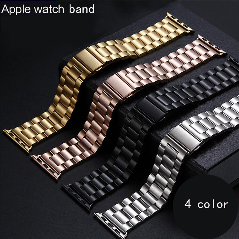 Steel Watchband for iWatch Apple Watch serise 1 2 3 Sport Edition 38mm 42mm Wrist Band Bracelet Strap with adapter Replacement 6 colors luxury genuine leather watchband for apple watch sport iwatch 38mm 42mm watch wrist strap bracelect replacement
