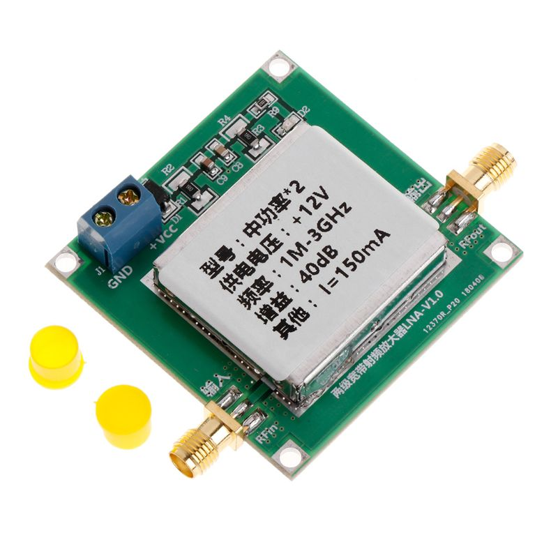 Popular Brand Rf Broadband Power Amplifier In 40db 1mhz To 2ghz Gain 20dbm Output Power Easy To Use Air Conditioner Parts Air Conditioning Appliance Parts