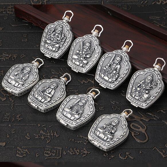 100% 990 Silver Buddha Statue Gau Pendant 990 Pure Silver Buddha Box Pendant the Chinese Zodiac years Buddha Amulet Pendant100% 990 Silver Buddha Statue Gau Pendant 990 Pure Silver Buddha Box Pendant the Chinese Zodiac years Buddha Amulet Pendant