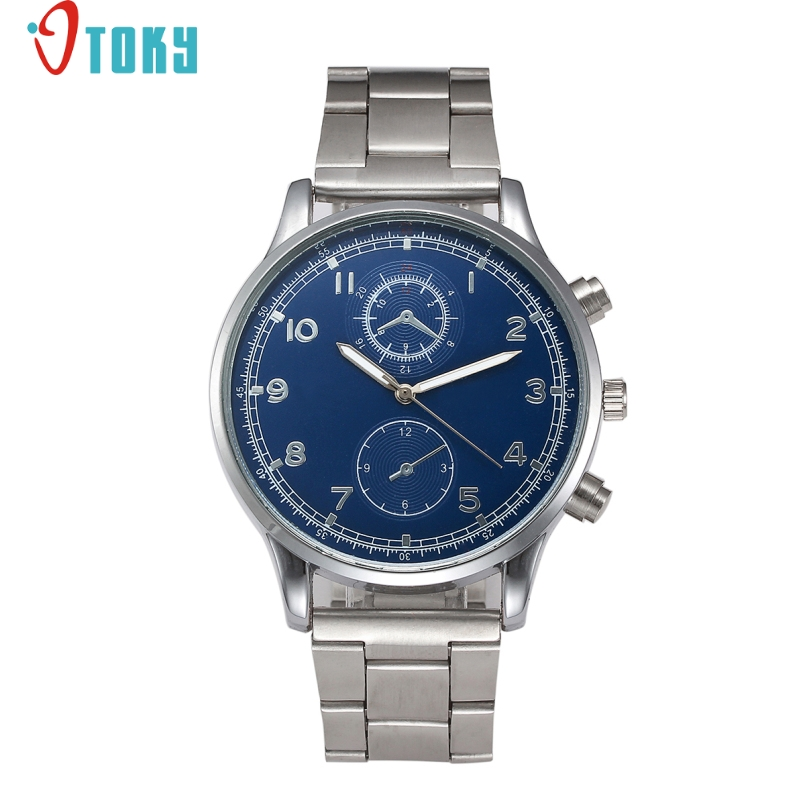 Excellent Quality OTOKY Men Watch Date Day Stainless Steel Hours Clock Dress Casual Quartz Watces Wristwatch Relogio Masculino