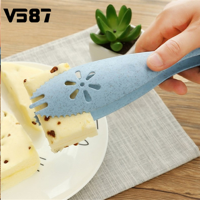 Kitchen Food Bread Tong Bbq Ice Cooking Gadgets Wheat Straw Made Material Accessories Supplies Gear Items