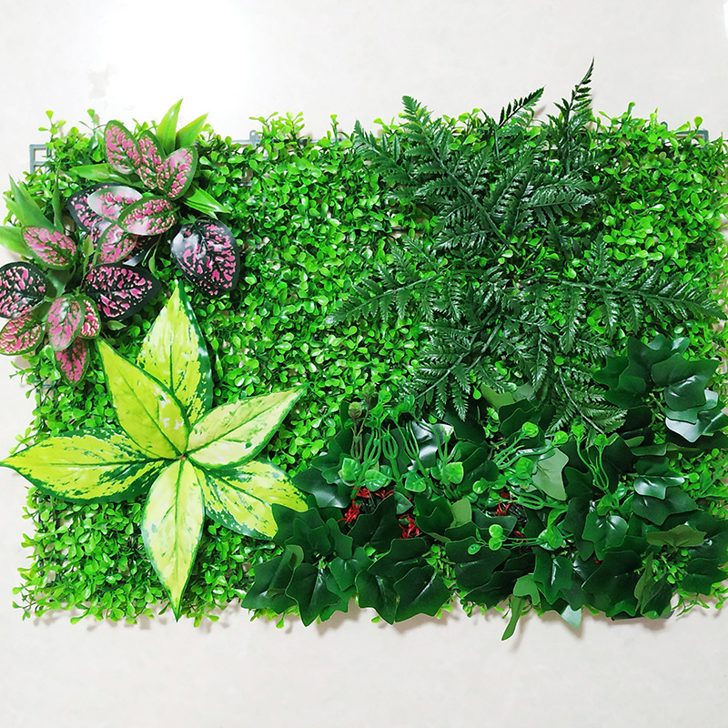 Artificial Plant Wall Panels for Garden Home Decor Grass Turf Rug Lawn Outdoor Flower Wall Hotel Coffee Shop Balcony Layout in Artificial Plants from Home Garden