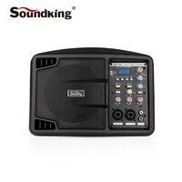 Soundking 5 дюймов активный Контрольный динамик профессиональные крытый и открытый производительность монитор с функцией записи, Поддержка