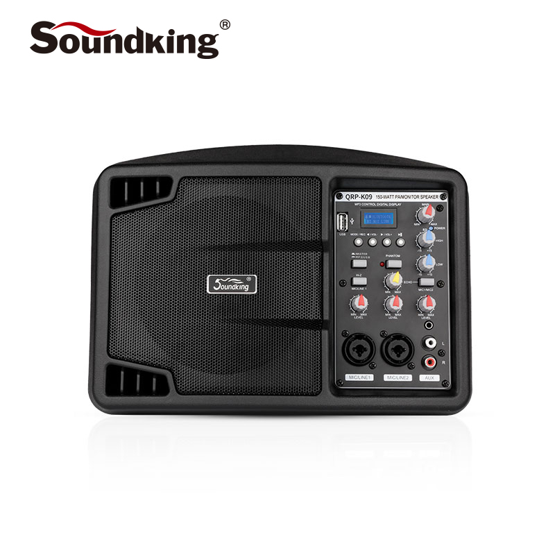 Soundking 5 inch active monitor speaker Professional indoor and outdoor performance recording monitor, Support Bluetooth QRP-K09Soundking 5 inch active monitor speaker Professional indoor and outdoor performance recording monitor, Support Bluetooth QRP-K09