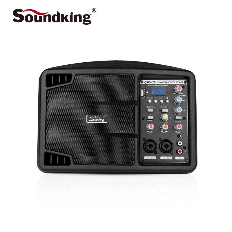 Soundking 5 pouces moniteur actif haut-parleur moniteur professionnel de performance intérieure et extérieure, Support Bluetooth QRP-K09