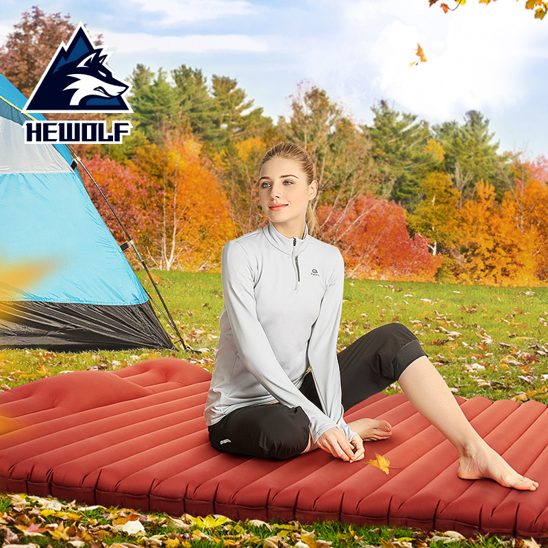 Hewolf Double Persons Camping Mat Portable Ultralight Comfortable Inflatable Mattress Picnic Mat Camping Bed Waterproof Mattress hewolf 200 65 4cm high quality 4cm thickening single moistureproof comfortable camping outdoor mat with pillows can be spliced