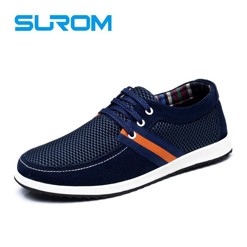 SUROM Malla Transpirable hombres Zapatos Casuales Hombres Zapatos del Tablero Kr