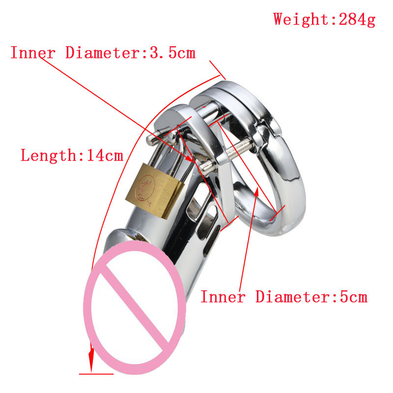 Metal Penis Cage Male Chastity Device Stainless Steel Adult Cock Cage Metal Chastity Mens Sex Toys cock cage penis rings with metal catheter stainless steel chastity device fetish adult products sex toys for men aj31