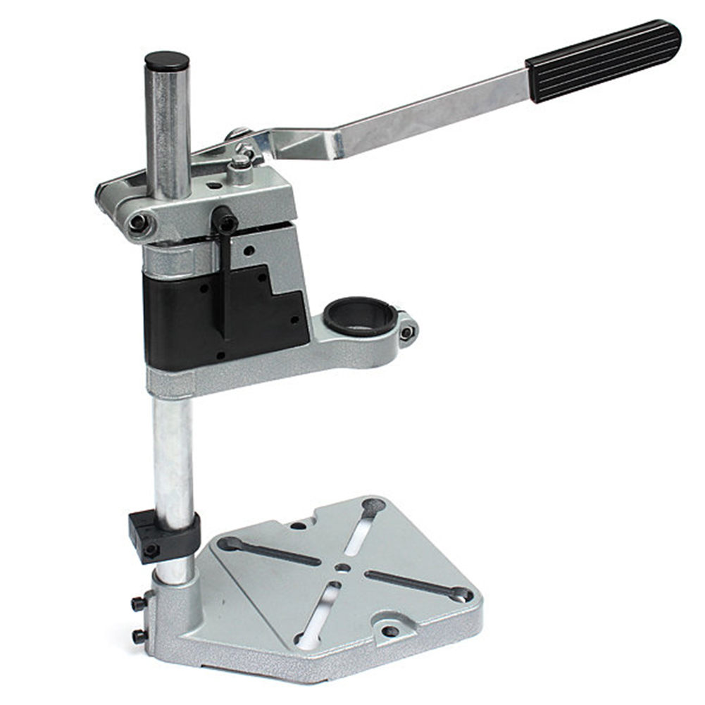 Dremel Electric Drill Stand Power Rotary Tools Accessories Bench Drill Press Stand DIY Tool Double Clamp Base Frame Drill Holder цена