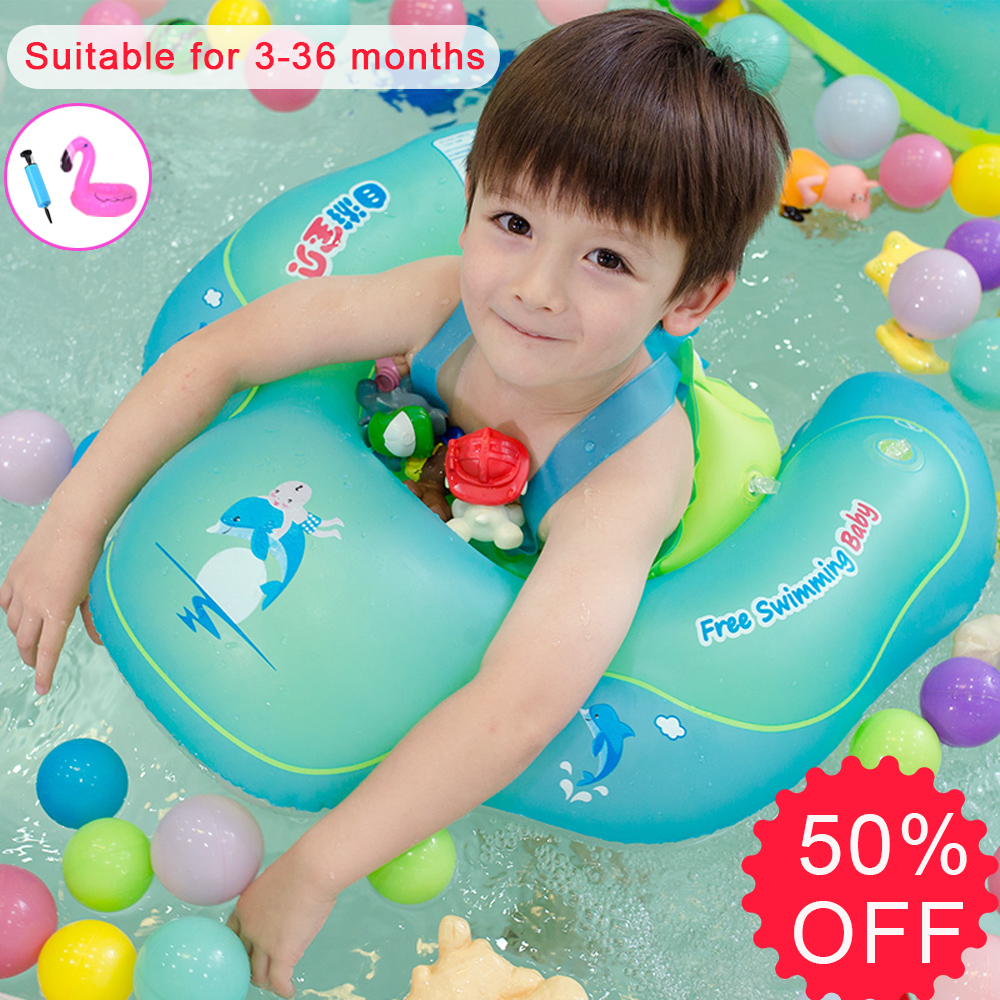 JIAINF Baby Float Swimming Circle Pool Accessories Safety Baby Swim Float For Swimtrainer Kids Swim Circle Water Pool Float Toy