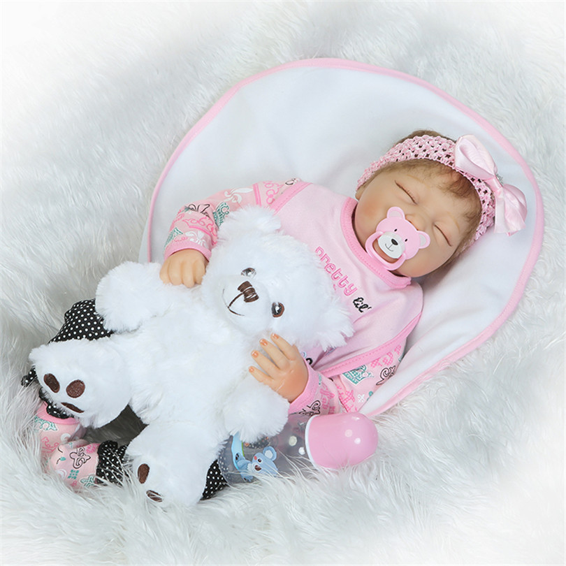 53cm Fashion Gifts Doll for Children Bedtime Toys with Bear Pacifier Lovely Dolls Soft Cotton High Quality Dolls Newborn