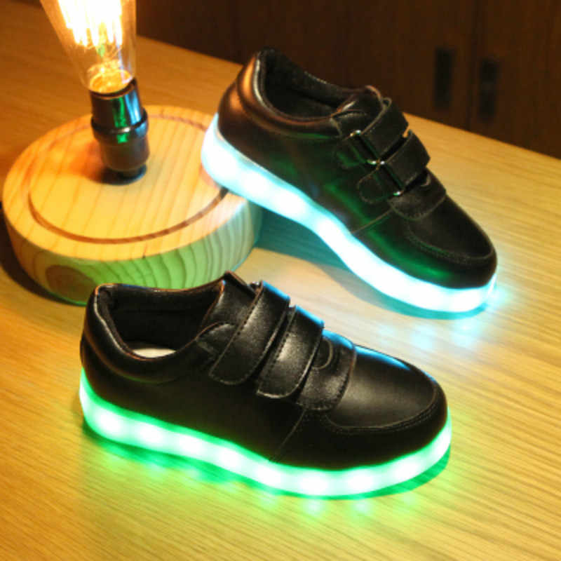 Girl Led Luminous Shoes Children Glowing Sneakers Baby Boys