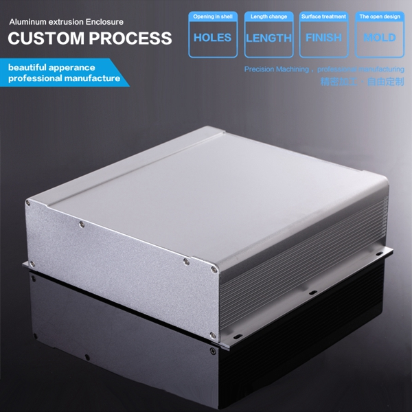 250*73.5*250 mm (WxHxL)  Solar Junction Box/communication video aluminum enclosure/chassis 250
