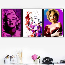 Marilyn Monroe Wall Art Canvas Painting Watercolor Colorful Nordic Posters And Prints Abstract Pictures For Living Room