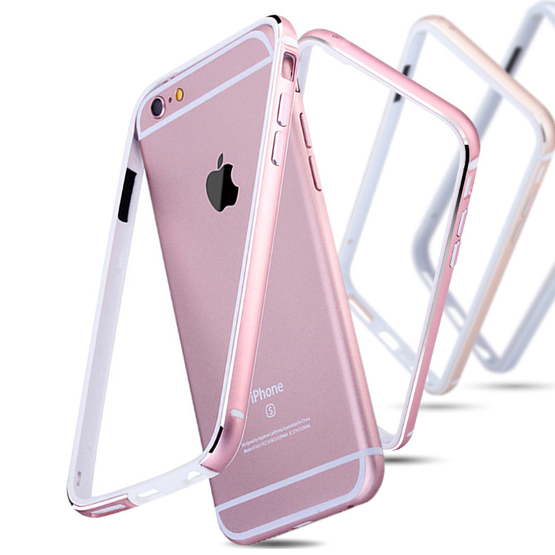 the latest ad510 2288a US $2.7 42% OFF|Aluminum + Silicone Bumper Case For iPhone 6 6S / 6 Plus 6S  Plus Luxury Cover Metal Coque Rose Gold For iPhone6 Bag-in Phone Bumper ...