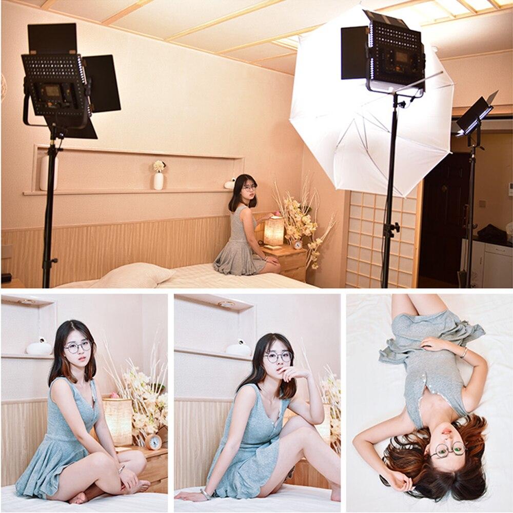 PIXEL 2 pz K80 2.4g Wireless di Trasmissione Video Luce del LED Dimmable con Illuminazione Stand Kit per la Fotografia di Ritratto YouTube notizie