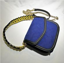 2016 women  real leather  bag vintage facial scrub messenger bag with metal chain belts brand luxury shoulderbag