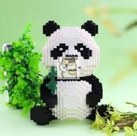 22.7*12.5*18.1cm tiny particles spelling toy building blocks national treasure panda puzzle assembling toy blocks