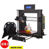 3D Printer Reprap Prusa i3 Single Nozzel Upgrade Power Failure Resume Printing Impressora 3D UK USA Stock