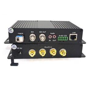 Image 2 - Convertidores de medios ópticos de fibra HD SDI de alta calidad, Video/Audio/Ethernet, transmisor y grabador para SDI CCTV,LC