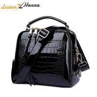 Fashion Women Bags Designer Crocodile Leather Female Shoulder Bag Crossbody Bags for Women Purses and Handbags Sac Main Femme
