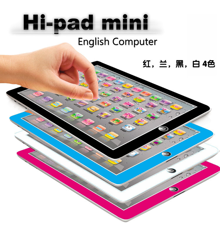 Y-Pad mini English Computer Learning Hi-pad mini Touch Tablet Kid learning & reading Toy Baby YPat Educational Toys for Children image