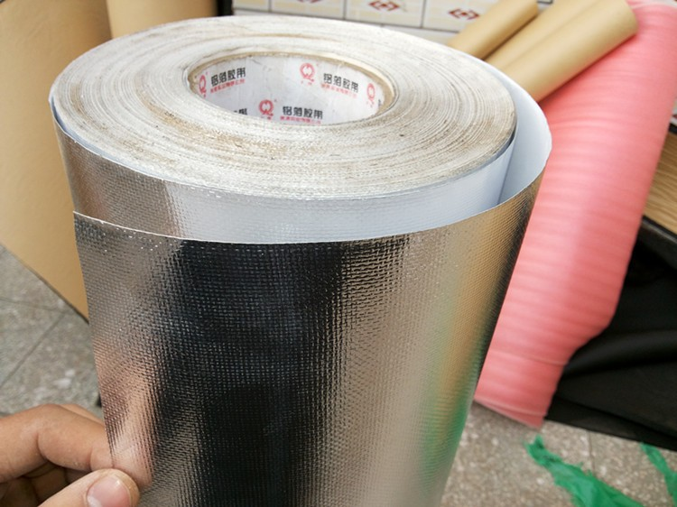 5m Roofs, Walls Sunscreen Aluminum Foil Fiberglass, Retardant, Hot ,cold Protective,Auto Car Heat Sound Deadener,reflective