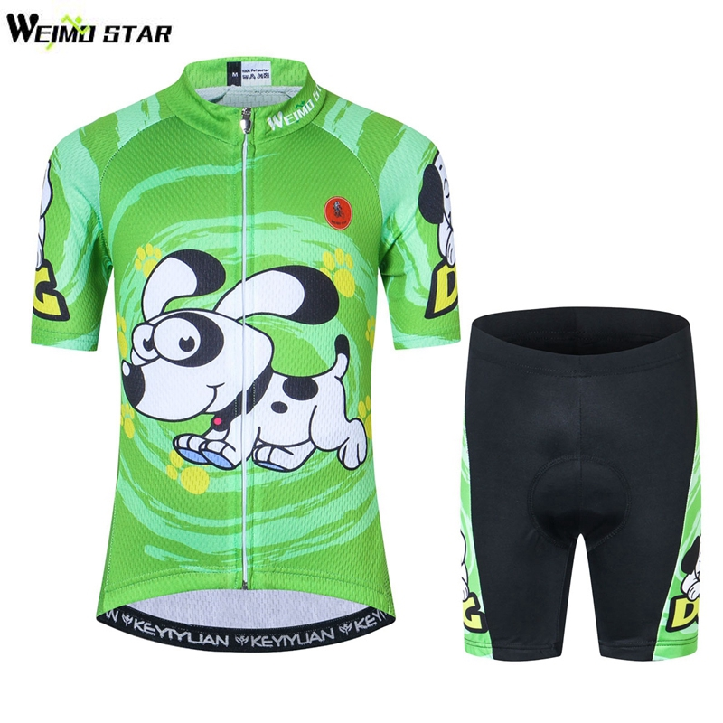 2018 Kids Cycling Clothing Children Bike Jersey Shorts sets Bicycle Top Maillot Ropa Ciclismo Boy mtb Shirts Suit Green children s bicycle kids balance bike ride on toys for kids four wheels child bicycle carbon steel bike for children 1 2 years