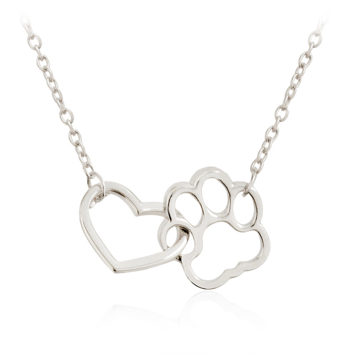 Pet paw footprint necklaces cute love heart pendant necklace women pet paw footprint necklaces cute love heart pendant necklace women girls aloadofball Images