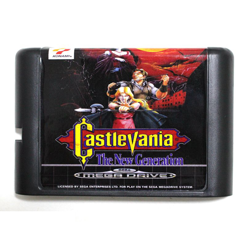 Castlevania The New Generation 16 bit Sega MD game Cartridge for Megadrive Genesis system image