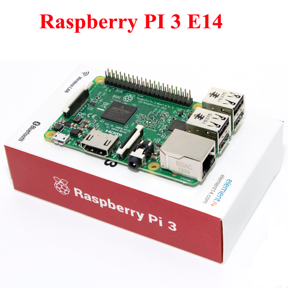 Raspberry Pi 3 Model B 1GB RAM Quad Core 1 2GHz 64bit CPU WiFi Bluetooth element
