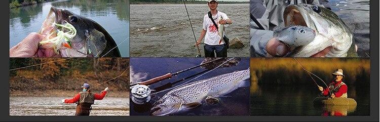 vara de carcaça de pesca girando 45cm haste punho