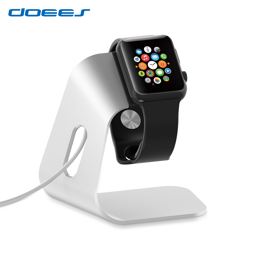 Luxury Aluminum Alloy Charging Dock Station For Apple Watch Accessories Desktop Charging Bracket Handy Holder For i Watch Stand-in Mobile Phone ...