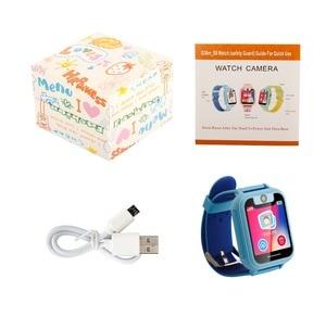 Image 5 - Crianças relógio inteligente s6 relógio de bebê sim gprs rastreador em tempo real criança anti lost smartwatch relógio inteligente com câmera pk q528 q50 q90