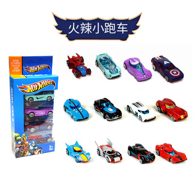 New 4 Pack Mini Racing Model Toys Children's Toys Alloy Sliding Pocket Small Sports Car