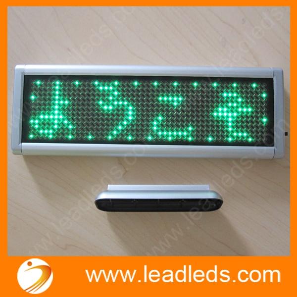 Small Size Led Desk Display Board 12 48 Pixel Semi Outdoor Scrolling Green Messgae Mini Display Sign