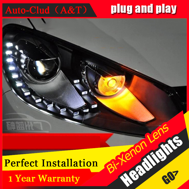 Auto Clud 2009 2013 For vw golf 6 xenon headlights car styling bi xenon lens 15