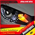 Auto Clud 2009-2013 Para vw golf 6 car styling faros de xenón bi xenón lente 15 led DRL para vw golf mk6 faros H7 aparcamiento