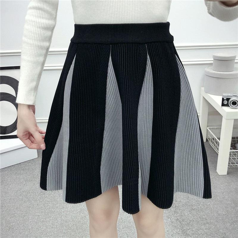 356ce3cefd5 Осенняя ретро юбка с высокой талией Женская винтажная жаккардовая Узорчатая плиссированная  юбка женская s Saias Женская