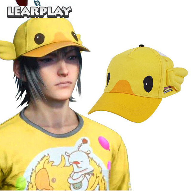 Final Fantasy XV Noctis Lucis Caelum Cosplay Carnival Cap Moogle Chocobo FF15 Hat Halloween Costume Accessories For Men Women