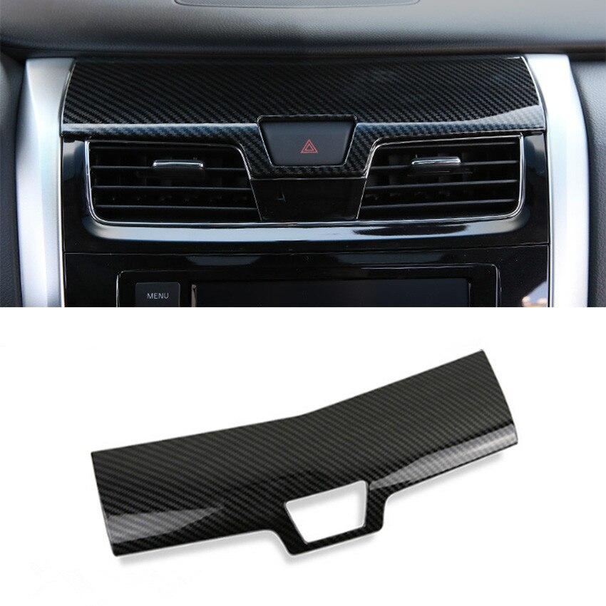 2018 Nissan Altima Interior: YAQUICKA Car Dashboard Central Console Cover Carbon Fiber