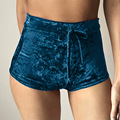 Winter Velvet Shorts Pink Booty Bermuda Feminina Mini Sexy Spandex Pantalones Cortos Mujer Hot Skort Taille Haute