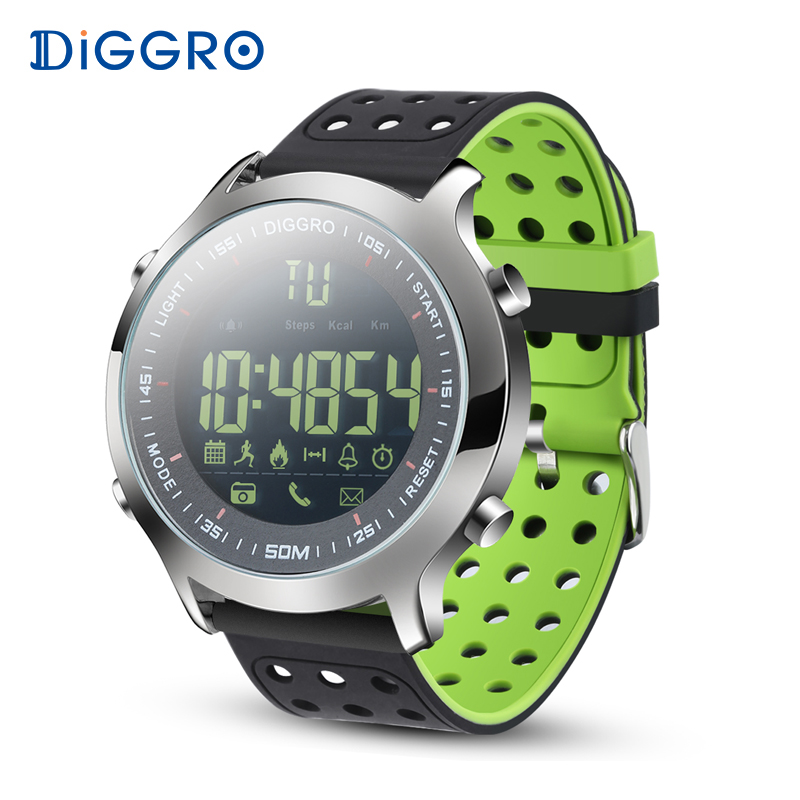 Diggro EX18 Smart Watch Men Sport Watch 5ATM Waterproof Bluetooth SmartWatch Pedometer Call reminder Stopwatch for Android IOS smart watch men women sports watches waterproof bluetooth smartwatch pedometer call reminder fitness track clock for android ios